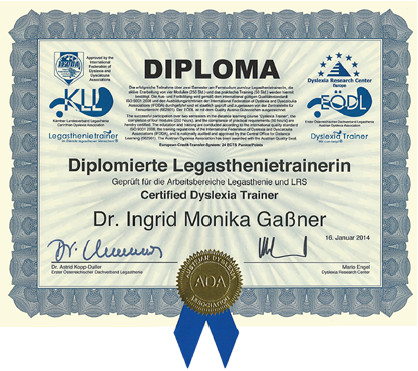 diplomierte Legasthenietrainerin